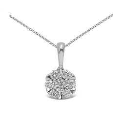 Colgante diseño de oro blanco 18 Kt con diamante (CO12035)