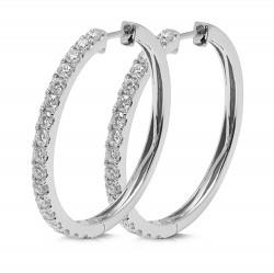 Criollas de oro blanco 18Kt con diamantes (PE148128)