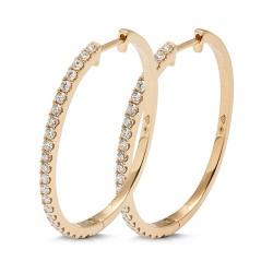 Criollas de oro amarillo 18Kt con diamantes (PE246555)