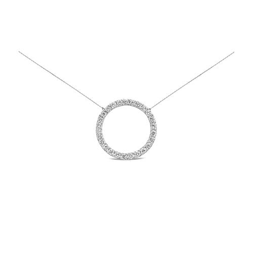 Colgante  diseño oro blanco de 18kt con diamantes