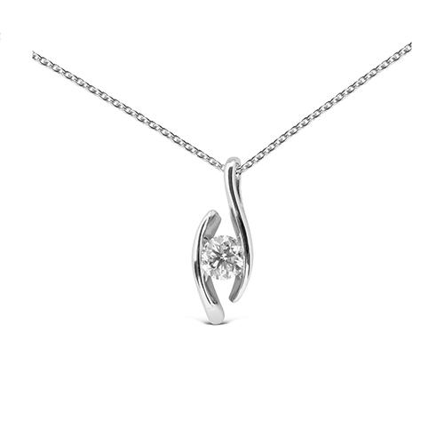 Colgante  diseño de oro 18 Kt con diamante