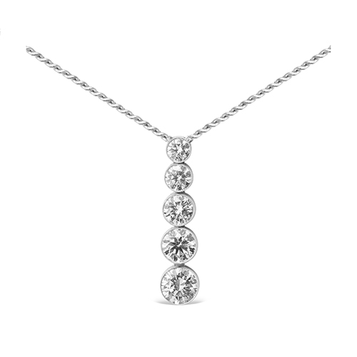 Colgante  diseño de oro 18 Kt con diamantes