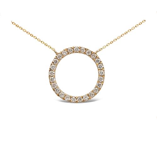 Colgante  diseño de oro amarillo 18 Kt con diamantes